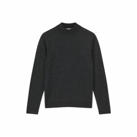 Jigsaw Fine Gauge Merino Mock Neck Jumper