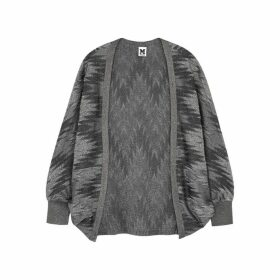 M Missoni Zigzag Metallic-weave Fine-knit Cardigan
