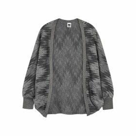 M Missoni Zigzag Metallic-weave Fine-knit Cardigan