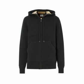 Burberry Embroidered Logo Cashmere Hooded Top