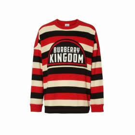 Burberry Kingdom Detail Striped Cashmere Sweater