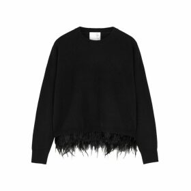 IN. NO Icelyn Feather-trimmed Wool-blend Jumper