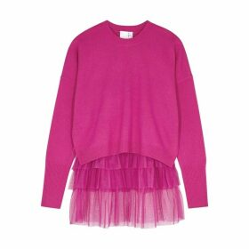 IN. NO Opera Fuchsia Tulle And Wool-blend Jumper