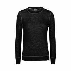 Rag & Bone Marina Black Fine-knit Cashmere Jumper