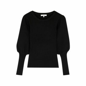MILLY Black Ribbed Jumper