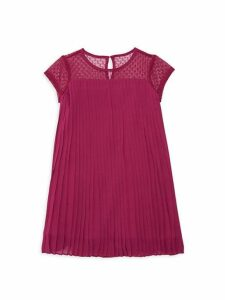 Little Girl's & Girl's Lace Pleated Dress