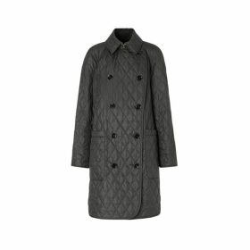 Burberry Diamond Quilted Double-breasted Coat