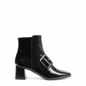 Flattered Mila 65 Black Leather Ankle Boots
