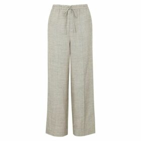 THE ROW JR Stone Wool-blend Trousers