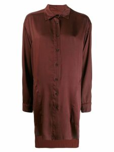 Uma Wang oversized satin shirt - Red