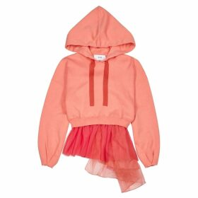 IN. NO Brittney Coral Jersey And Tulle Sweatshirt