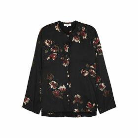 Vince Floral-print Silk Blouse