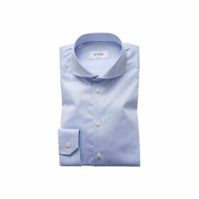 Eton Sky Blue Extreme Cut Away Shirt - Super Slim Fit