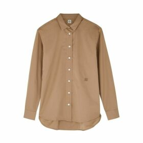 Totême Capri Brown Cotton Shirt