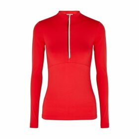 Vaara Ella Red Stretch-jersey Top