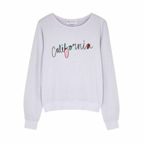 Wildfox California Printed Jersey Sweatshirt