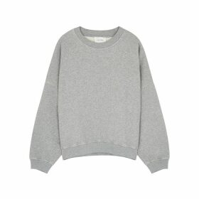 American Vintage Kinouba Grey Cotton Sweatshirt