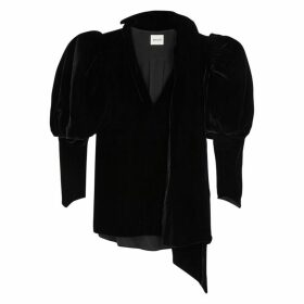 Khaite Jones Black Velvet Blouse