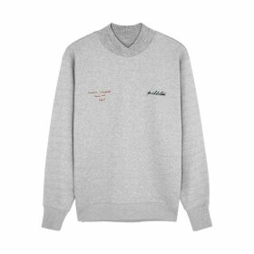 PushBUTTON Grey Logo Cotton-blend Sweatshirt