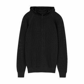 Adam Selman Sport Black Mesh Sweatshirt