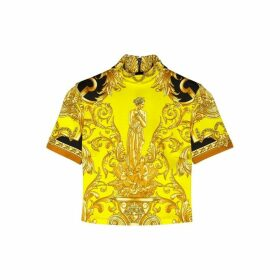 Versace Baroque-print Stretch-jersey Top