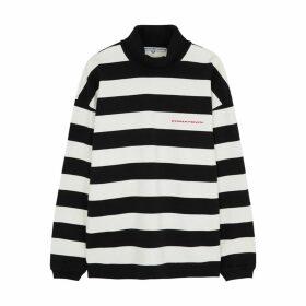 Alexander Wang Monochrome Striped Cotton Sweatshirt