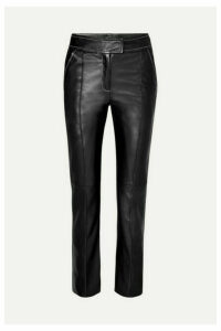 Stand Studio - Rivka Leather Straight-leg Pants - Black