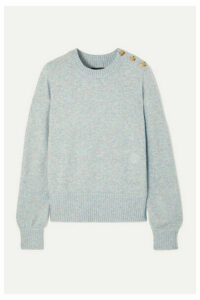 J.Crew - Button-detailed Mélange Knitted Sweater - Gray