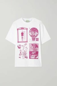 Aries - Zine Printed Cotton-jersey T-shirt - White
