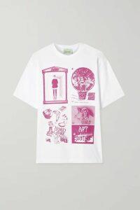 Aries - Zine Printed Cotton-jersey T-shirt - White