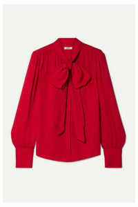 Jason Wu - Pussy-bow Crepe Blouse - Red