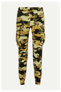 Norma Kamali - Camouflage-print Stretch-jersey Track Pants - Army green