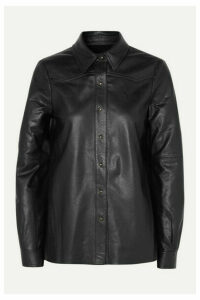 Nili Lotan - Juline Leather Shirt - Black