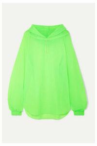 REJINA PYO - Erica Neon Shell Hoodie - Lime green