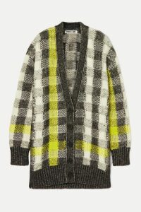McQ Alexander McQueen - Checked Knitted Cardigan - Gray