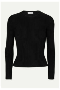 Balenciaga - Ribbed-knit Top - Black