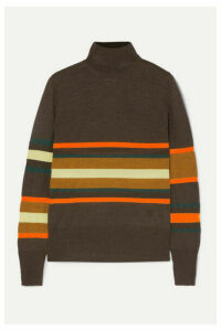MM6 Maison Margiela - Striped Wool-blend Turtleneck Top - Brown