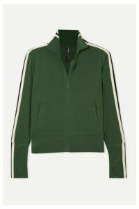 Norma Kamali - Striped Stretch-jersey Track Jacket - Forest green