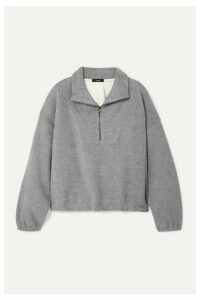 Bassike - Oversized Cotton-fleece Sweatshirt - Gray
