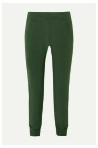 Norma Kamali - Striped Stretch-jersey Track Pants - Forest green