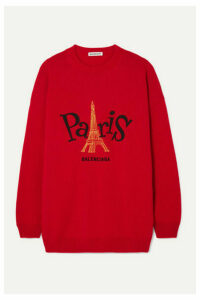 Balenciaga - Embroidered Cashmere Sweater - large