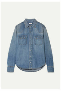 RE/DONE - Sawtooth Western Cotton-chambray Shirt - Light denim