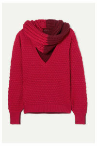 Johanna Ortiz - Cacao Colombiano Cutout Two-tone Wool-blend Sweater - Red