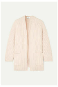 Allude - Oversized Ribbed Cashmere Cardigan - Pastel pink