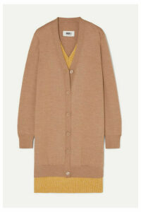 MM6 Maison Margiela - Oversized Layered Wool-blend Cardigan - Beige