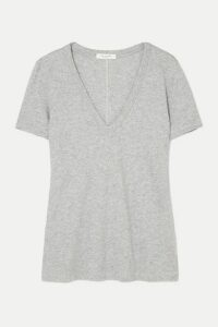 rag & bone - The Vee Slub Pima Cotton-jersey T-shirt - Gray