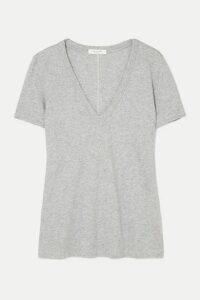 rag & bone - The Vee Slub Pima Cotton-jersey T-shirt - Gray
