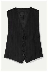 Nili Lotan - Angelina Pinstriped Wool-blend Twill Vest - Black