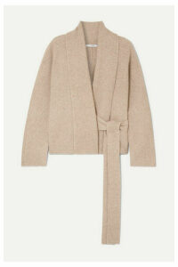 LE 17 SEPTEMBRE - Ribbed-knit Wrap Cardigan - Light brown