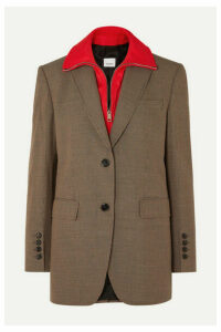 Burberry - Jersey-trimmed Houndstooth Wool Blazer - Beige